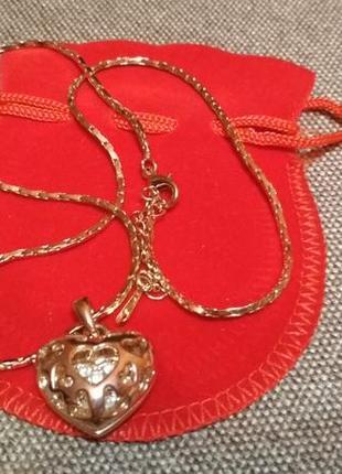 Кулон сердце на цепочке1 фото
