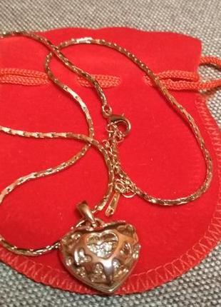 Кулон сердце на цепочке2 фото