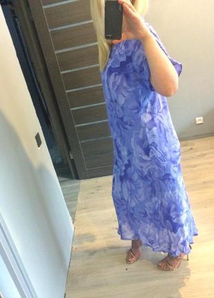 Фиалковое цветочное платье р.20-224