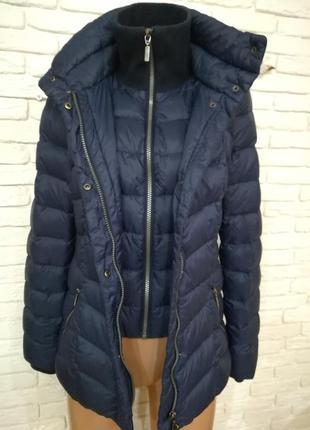 Качественная демисезонная пуховая курточка,р.s-m4