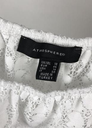Кружевная блуза с открытыми плечами4