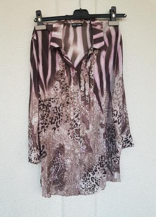 Блуза блузка анимал#рюши#стразы от gerry weber