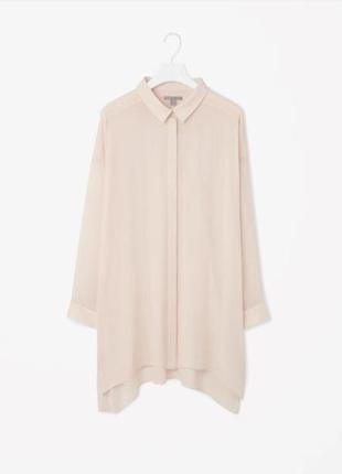 Минималистичная нюдовая блуза туника  от cos2