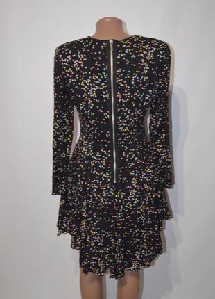Платье в горох с рукавам и пышной юбкой h&m2