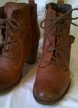 Качественные кожаные ботинки 40 р. 26 см. jones bootmaker утепленные, подошва freeflex2