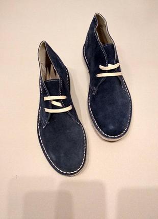 Синие замшевые ботинки, 41