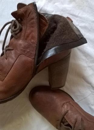 Качественные кожаные ботинки 40 р. 26 см. jones bootmaker утепленные, подошва freeflex7