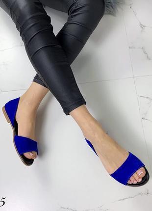 Замшевые босоножки сандалии балетки с открытым носком. 36-414 фото