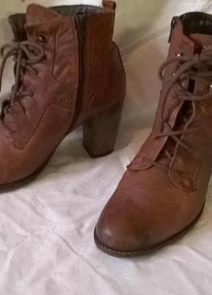 Качественные кожаные ботинки 40 р. 26 см. jones bootmaker утепленные, подошва freeflex8