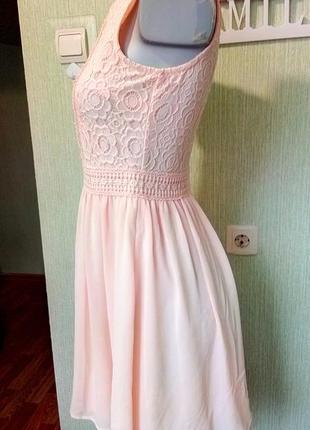 Нежное персиковое платье2 фото