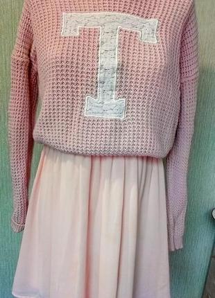 Нежное персиковое платье3 фото