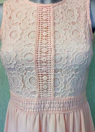 Нежное персиковое платье4 фото