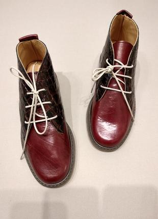 Кожанные ботинки2 фото