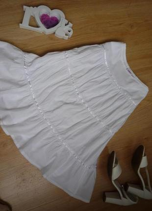 Шикарная белая летняя юбка / миди / 100% хлопок / jc