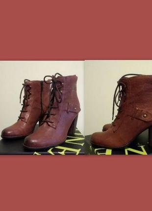 Качественные кожаные ботинки 40 р. 26 см. jones bootmaker утепленные, подошва freeflex1