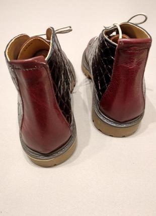 Кожанные ботинки3 фото