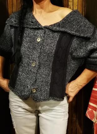 Blue willi's. дания. свитер коттоновый с перламутровыми пуговицами1