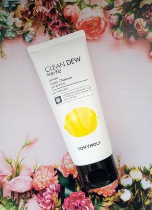 Пенка для лица с экстрактом лимона tony moly clean dew lemon foam cleanser1