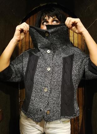 Blue willi's. дания. свитер коттоновый с перламутровыми пуговицами4