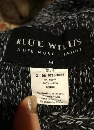 Blue willi's. дания. свитер коттоновый с перламутровыми пуговицами5