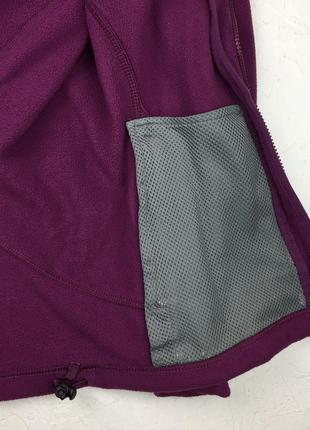 Фиолетовая флисовая кофта berghaus женский свитер под горло подстег подклад3