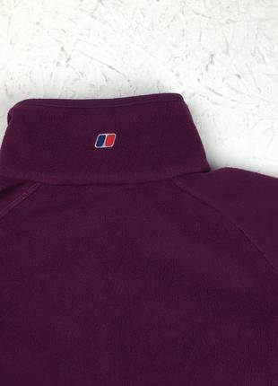 Фиолетовая флисовая кофта berghaus женский свитер под горло подстег подклад4