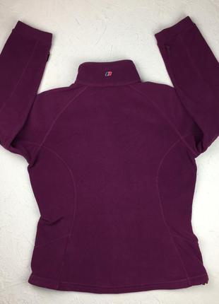 Фиолетовая флисовая кофта berghaus женский свитер под горло подстег подклад5