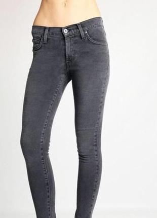 Серые джинсы супер скини super skini штаны серые высокая посадка1
