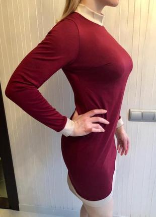 Приталенное платье из французского трикотажа4