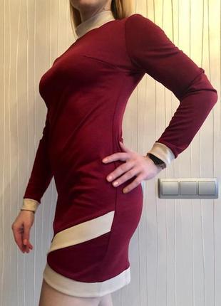 Приталенное платье из французского трикотажа5