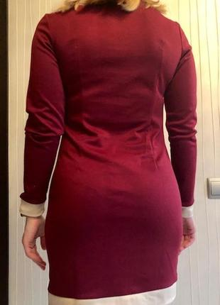 Приталенное платье из французского трикотажа7