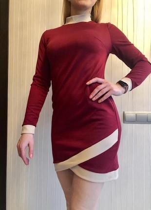 Приталенное платье из французского трикотажа6