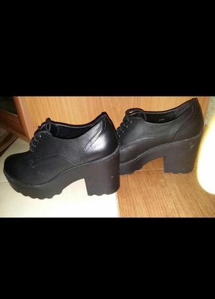 Туфли, ботинки весенние, тракторная подошва1