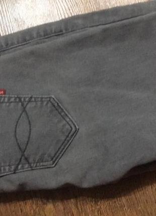 Серые джинсы супер скини super skini штаны серые высокая посадка3