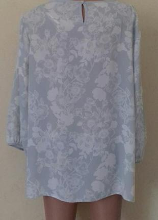 Нежная блуза с принтом большого размера3