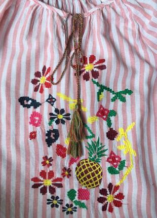 Красивая блуза вышиванка4 фото