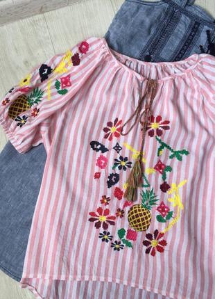 Красивая блуза вышиванка3 фото