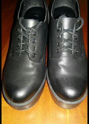 Туфли, ботинки весенние, тракторная подошва2