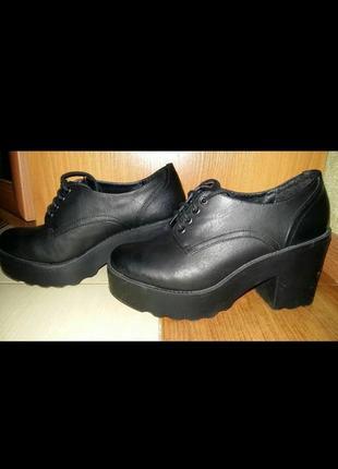 Туфли, ботинки весенние, тракторная подошва3