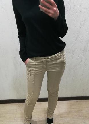 Бежевые брюки h&m1