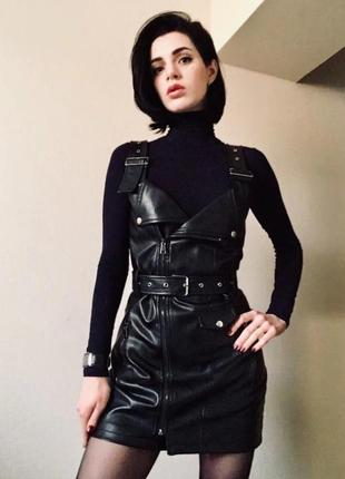 Сарафан платье из эко кожи @womens.online.showroom8