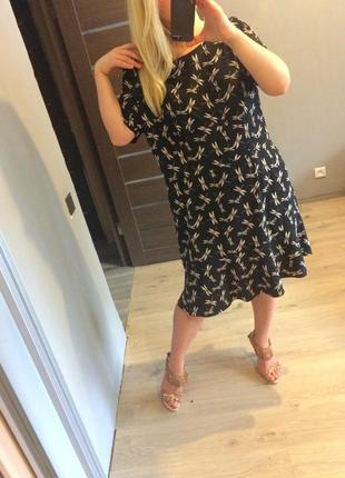 Милое платье в стрекозы р.204