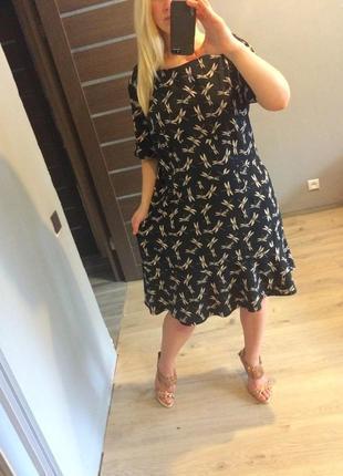 Милое платье в стрекозы р.205