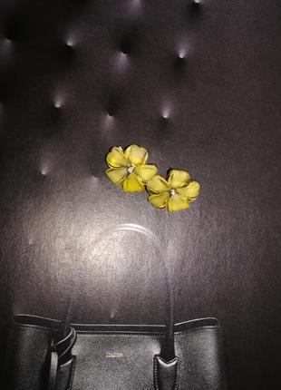 Бижутерия, серьги цветочки1