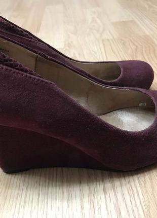 Туфли модельные next бордовая замша