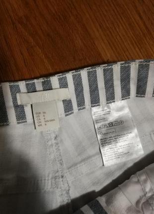 Фирменные стильные качественные натуральные шорты в полоску .4