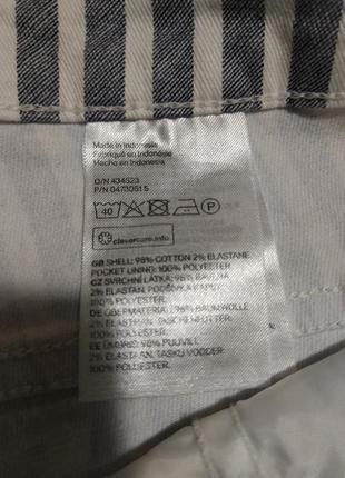 Фирменные стильные качественные натуральные шорты в полоску .5