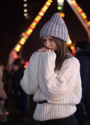 Объемный свитер оверсайз oversize с широкими рукавами новый dilvin4