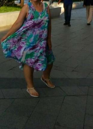 Платье сарафан летнее оверсайз5 фото