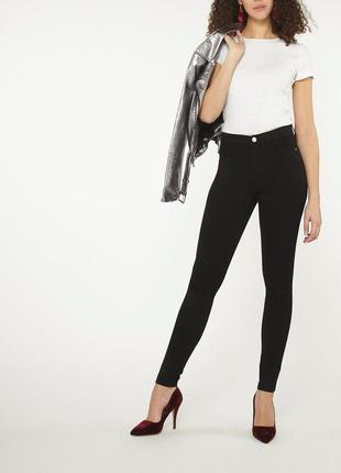 Узкие джинсы скини с высокой посадкой dorothy perkins англия